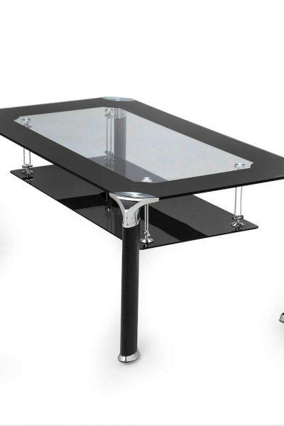 Zwarte Tafel Met Glasplaat.Salontafel Dubbele Glasplaat Zeer Fraai Design Uit Zwart En