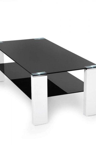 Salontafel zwart glas