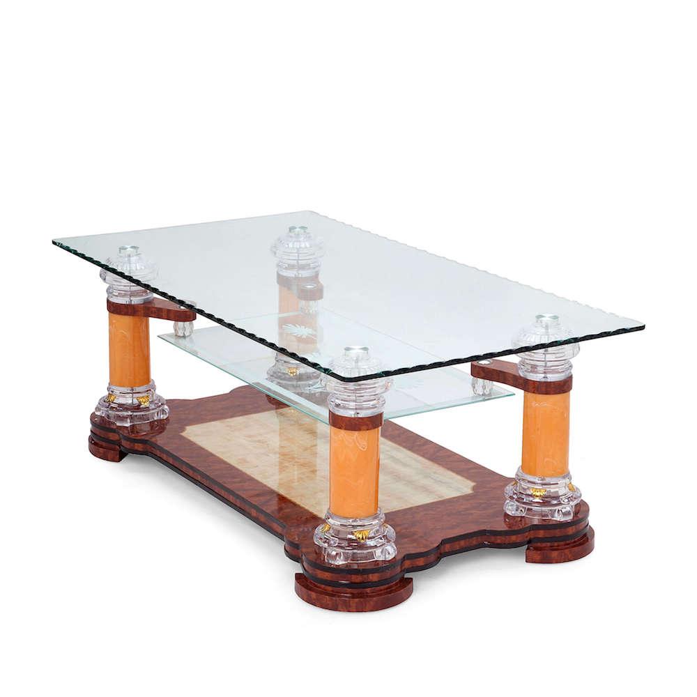 Prachtige Salon Tafel.Salontafel Glas Design Prachtig Geslepen