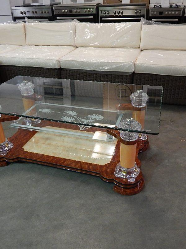 Salontafel glas design 3