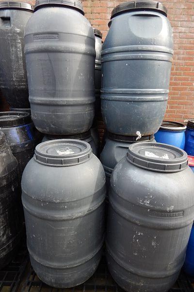 220 liter ton met deksel
