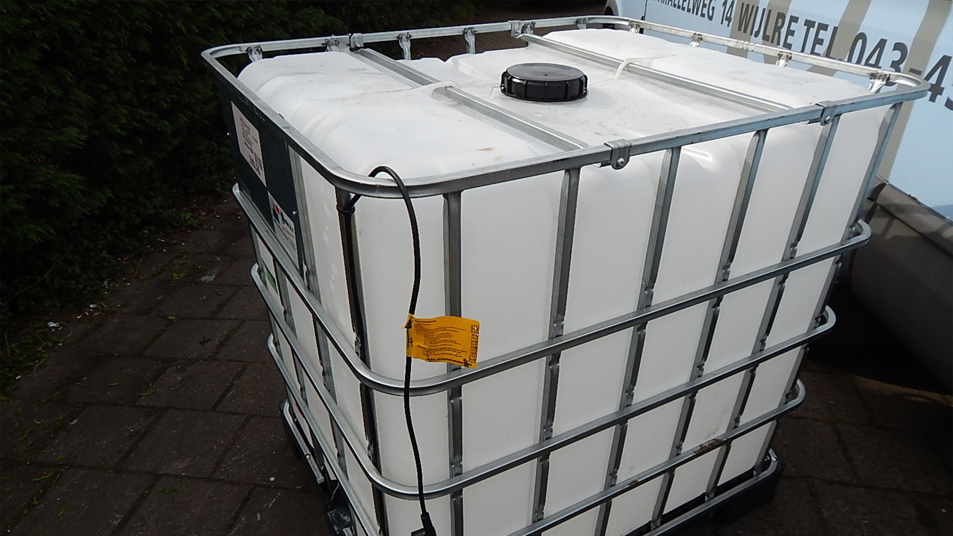 Verwarmde IBC watertank