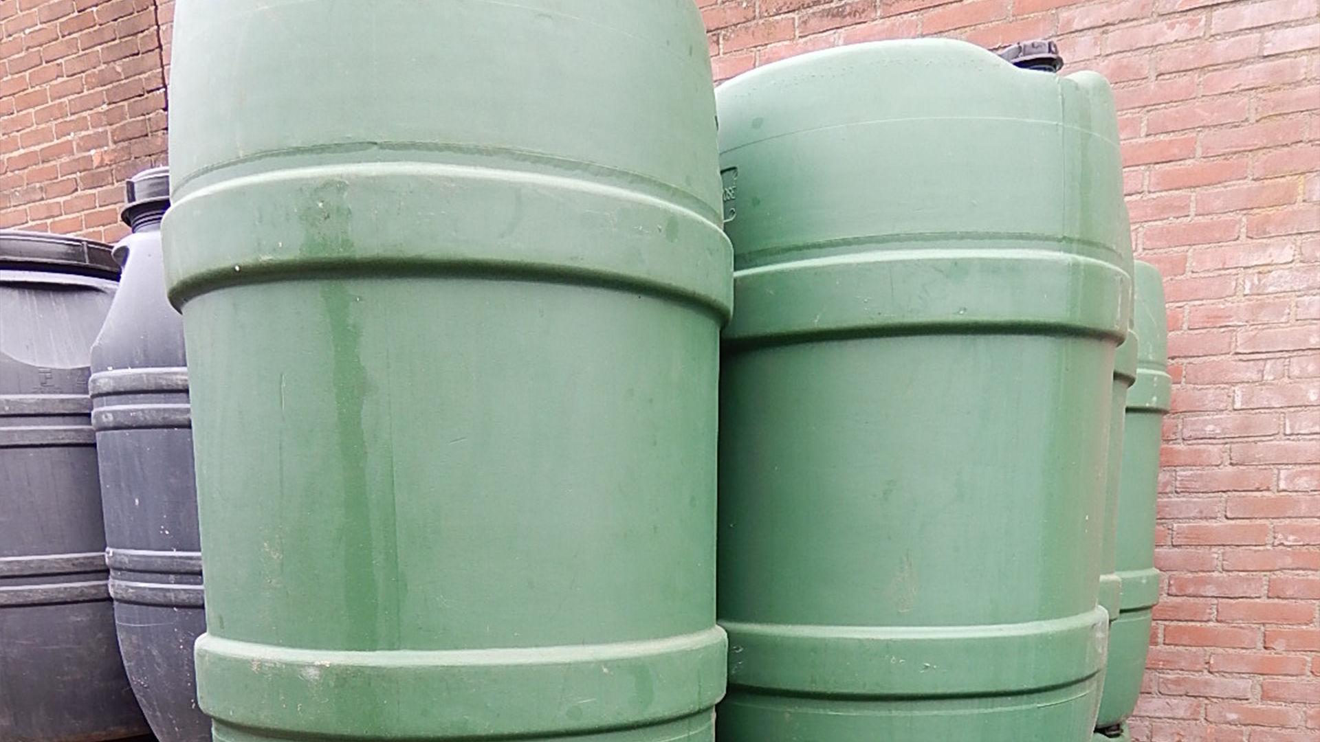 Groen 220 liter vat