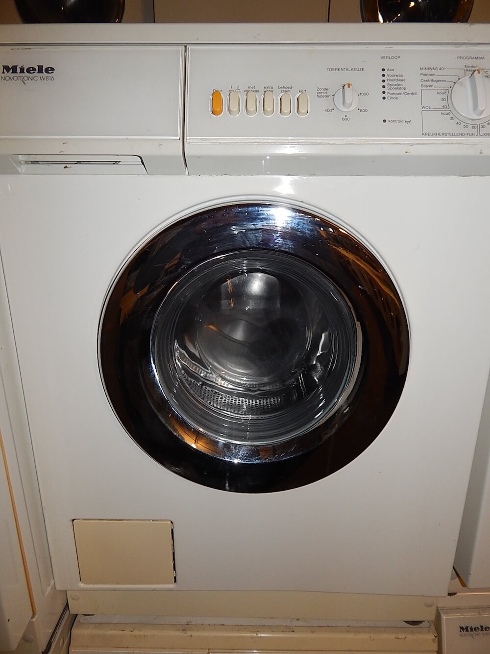 Miele wasmachine voorlader