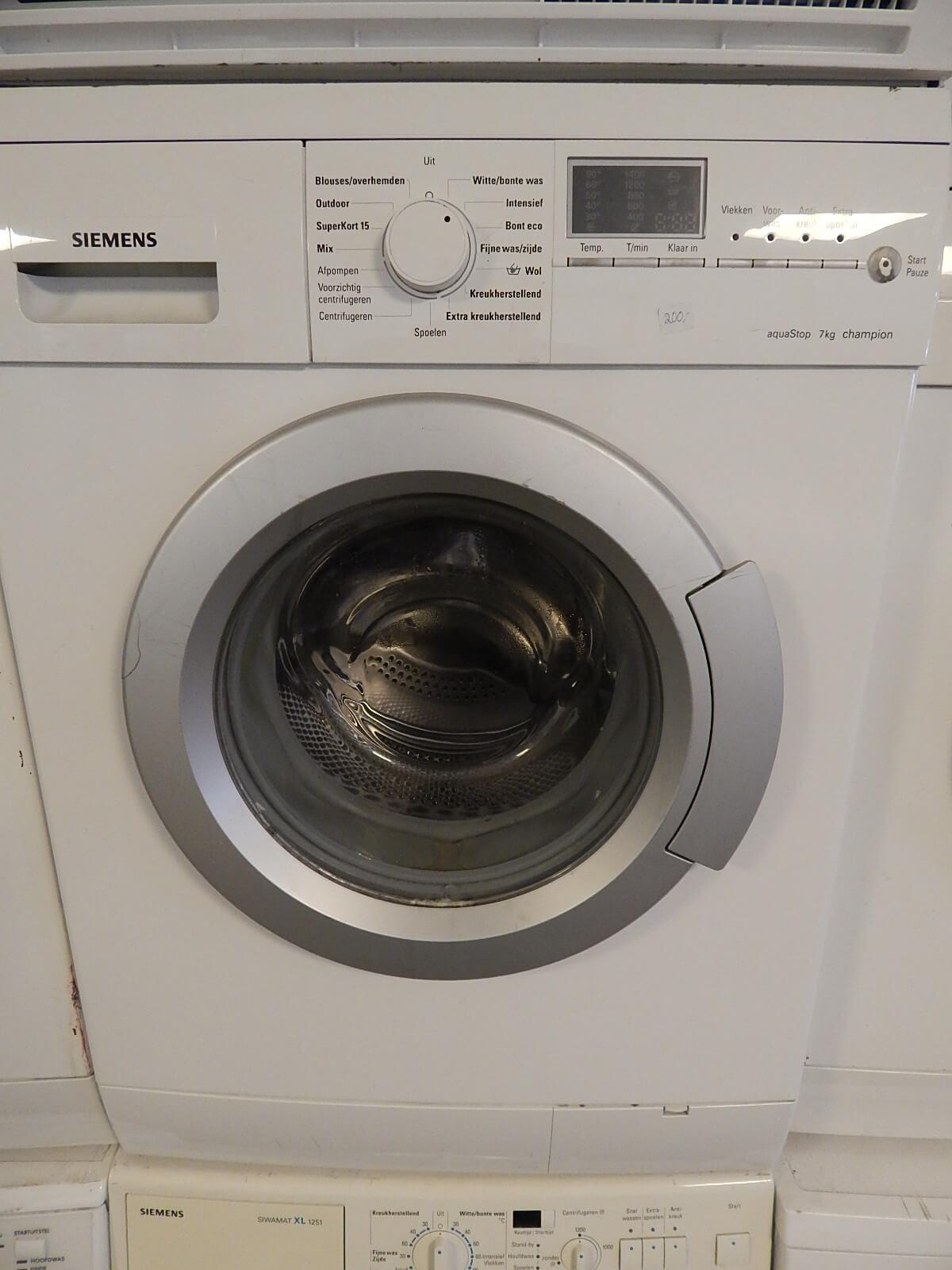 Wasmachine Siemens aquastop