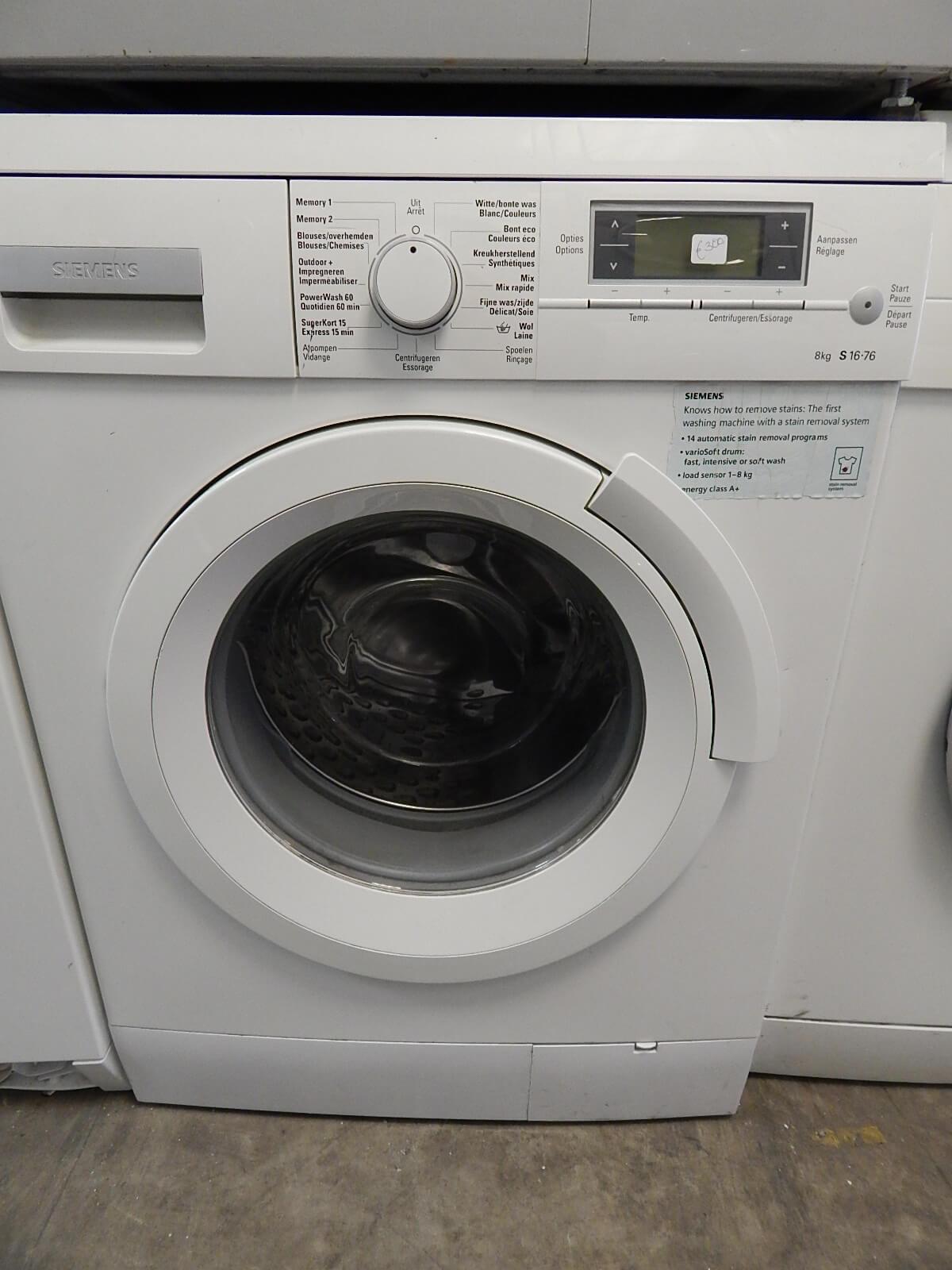 wasmachine kopen gebruikt