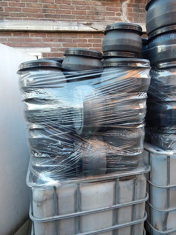 zwarte 12 liter tonnen